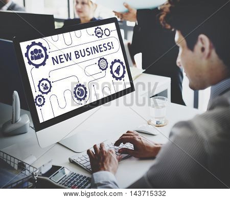 New Business Start up Graphics Concept