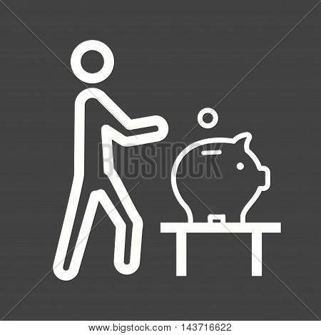 Money, bank, saving icon vector image. Can also be used for people. Suitable for web apps, mobile apps and print media.