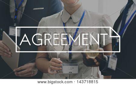 Agreement Deal Partnership Solution Connection Communication Concept