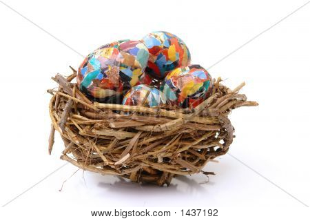 Collage Eggs In Nest