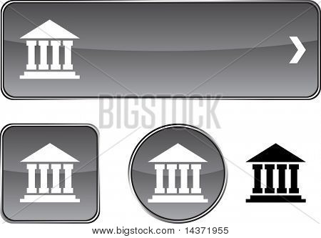 Exchange web buttons. Vector illustration.