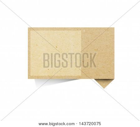 Paper texture , recycled paper stick on white background