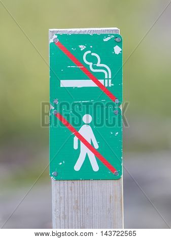 Forbidden To Walk And Smoke Over Here - Iceland