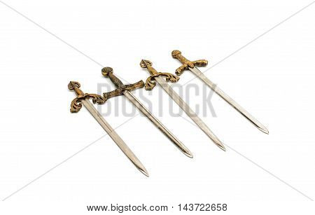 sword medieval steel isolated on white background