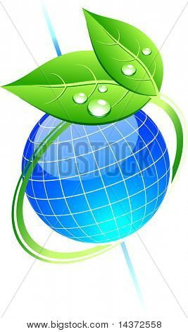 Eco único ícone. Ilustração vetorial.