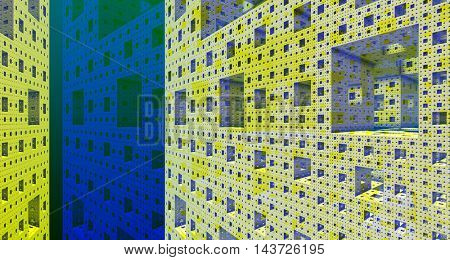 Metallic background steel construction 3d rendering
