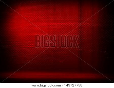 red metal interior background
