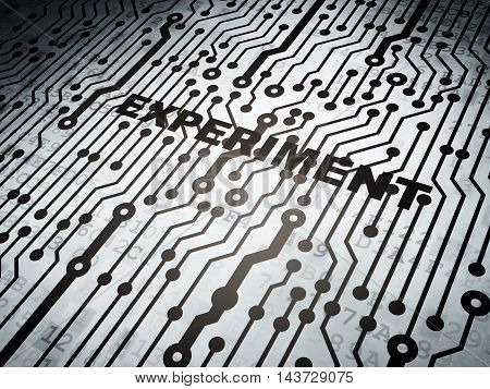 Science concept: circuit board with  word Experiment, 3D rendering