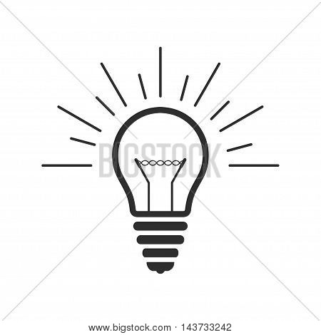 Vector lightbulb outline icon. Pictograph lightbulb. Symbol of idea.