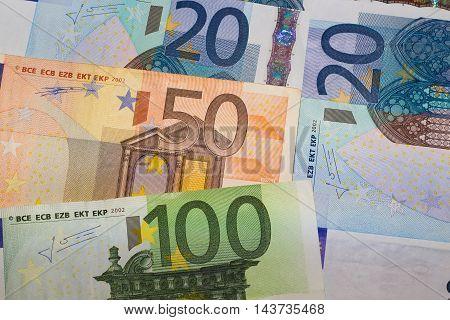 Euros - 100, 50 and 20 euro