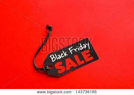 Sale label on color background