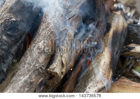 Flames And Smoke Fire