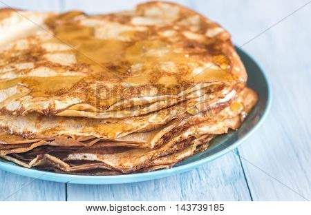 Pile Of Crepes On The Plate
