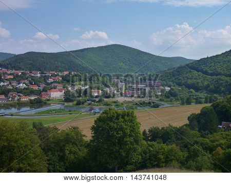 Panorama Of Central Bohemia From A Lookout Above Beroun City