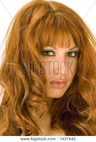Beautiful Redheaded Woman Portrait 4