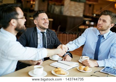 Businessmen Making a Deal