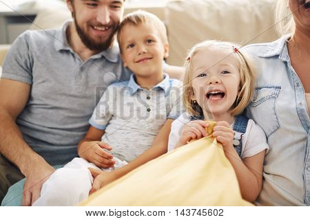 Family Portrait with Two Kids