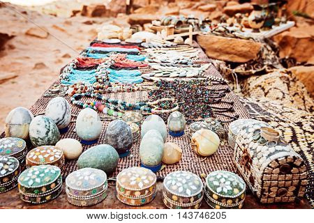 market of vintage items Petra in Jordan