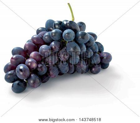 Purple Grapes isolated on white background autumn sweet raw fruit