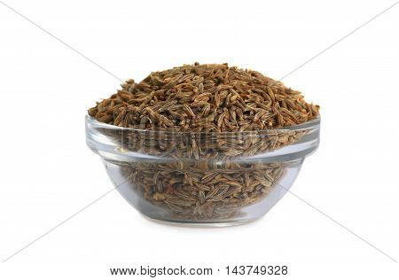 cumin isolated on white background, studio shot