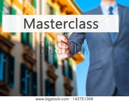 Masterclass - Business Man Showing Sign