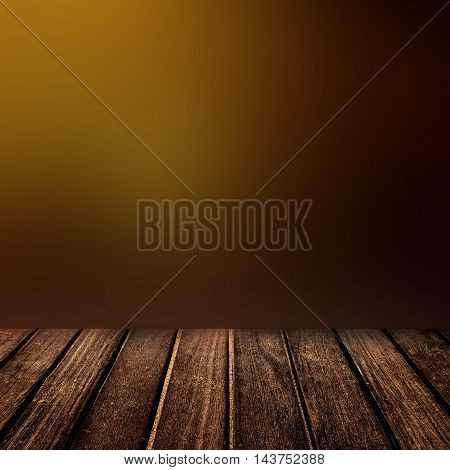 Old wooden table with defocused blurred background. Abstract Dark brown chocolate color texture