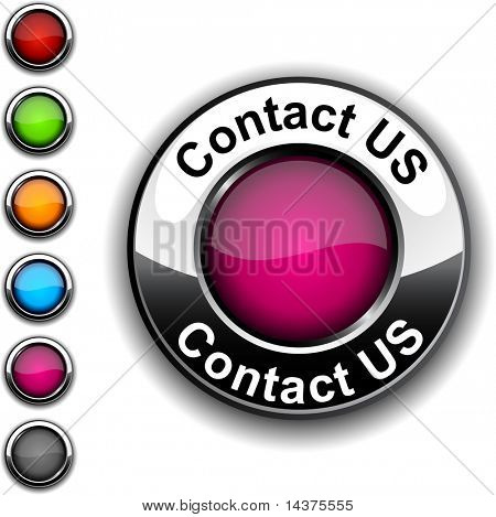 Contact us realistic button. Vector.