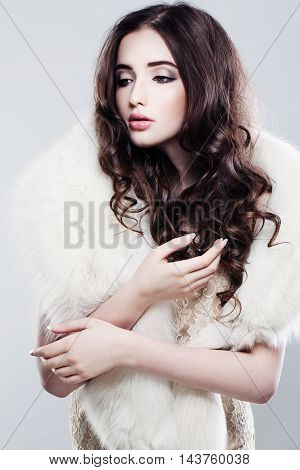 beautiful Fashion Portrait of Gentle Romantic Woman