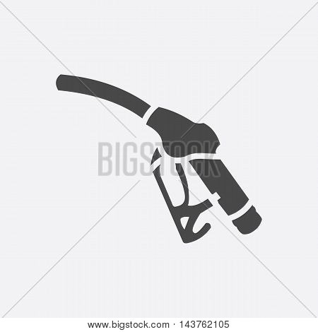 Fuel pump icon style. Single silhouette auto parts icon from the big car set - stock vector