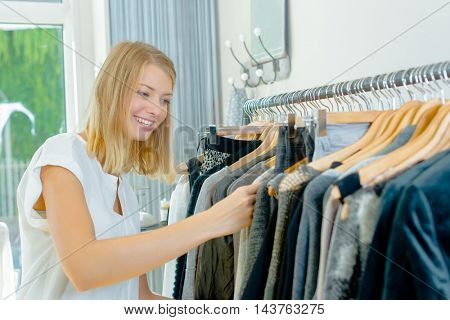 Woman looking to buy some new clothes