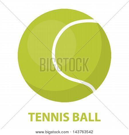 Tennis ball vector illustration icon in cartoon design