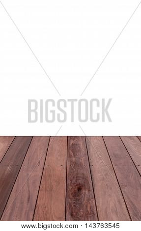 Close up of wall made of wooden planks isolated on white background