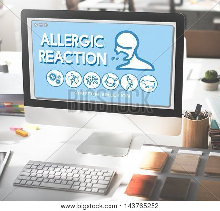 Allergic Reaction Allergy Disorder Sickness Healthcare Concept