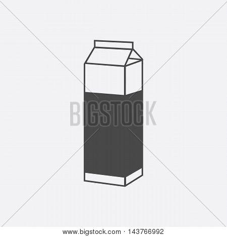 Milk box icon black. Single bio, eco, organic product icon from the big milk collection.