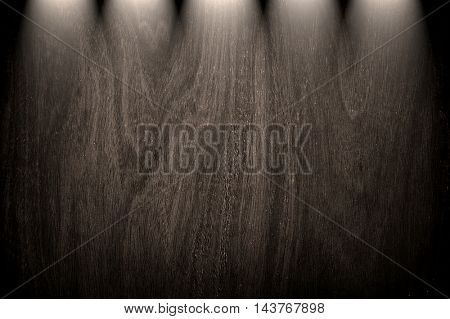 rough wood board with spotlight background