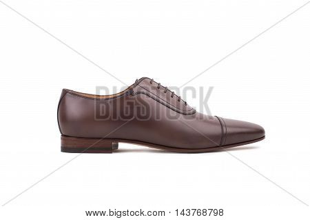 Brown Leather Shoe Isolated On White Background