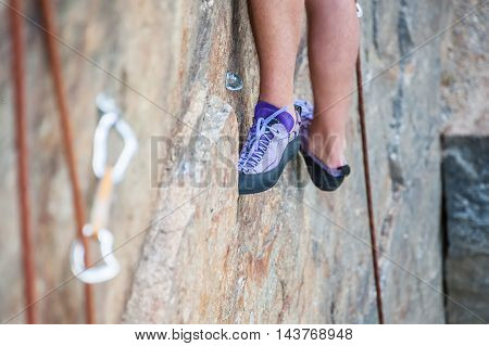 Climber Feet Close-up