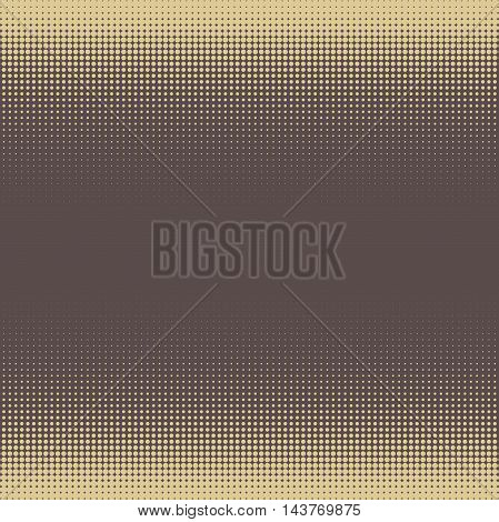 Seamless geometric vector brown and golden pattern. Modern ornament with dotted elements