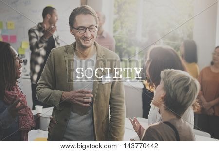 Society Socialize Community Connection Group Concept