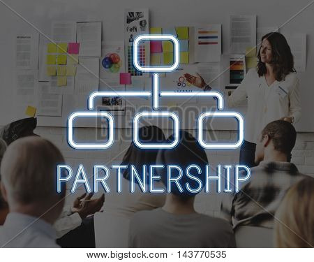 Partnership Organization Chart Business Company Concept