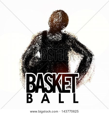 Creative abstract illustration of a Basketball Player on white background for Sports concept.
