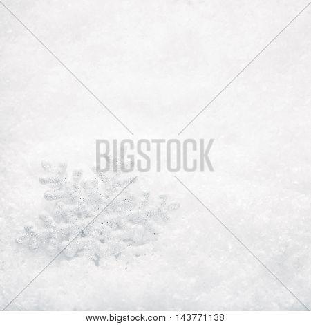 Christmas concept Background. Snowflake on white Snow