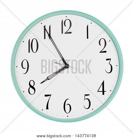 Five to eight on a round clock face