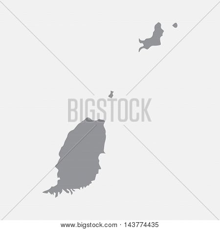 Grenada map in gray on a white background