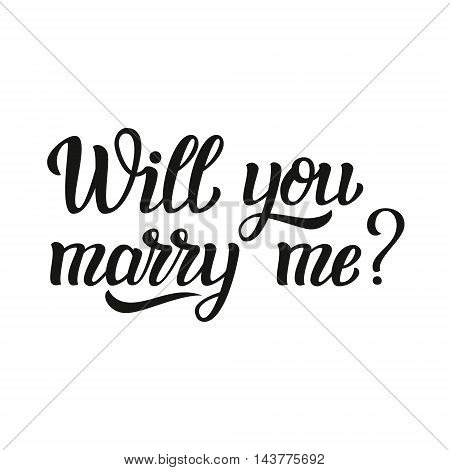 Will You Marry Me Lettering