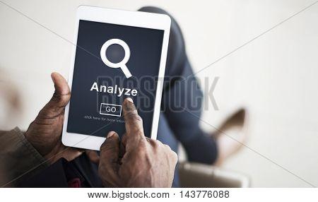 Analyze Data Strategize Website Concept