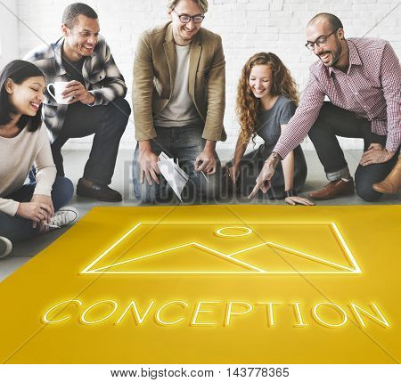 Abstract Creation Inspiration Model Graphic Concept