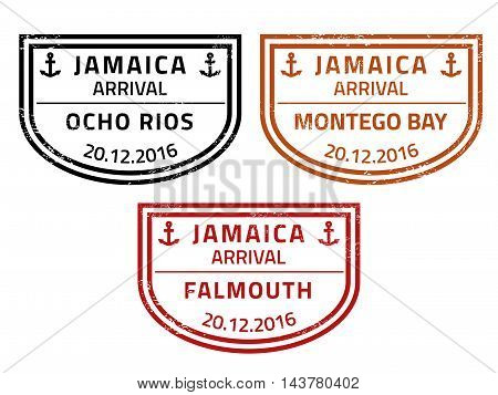 Jamaica Travel Stamps