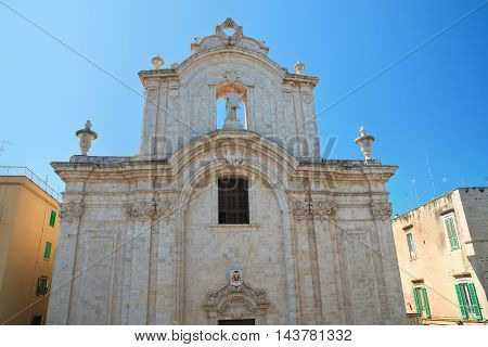 Perspective of Cathedral of Molfetta. Puglia. Italy.