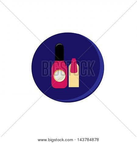 vector beauty icon manicure illustration on background